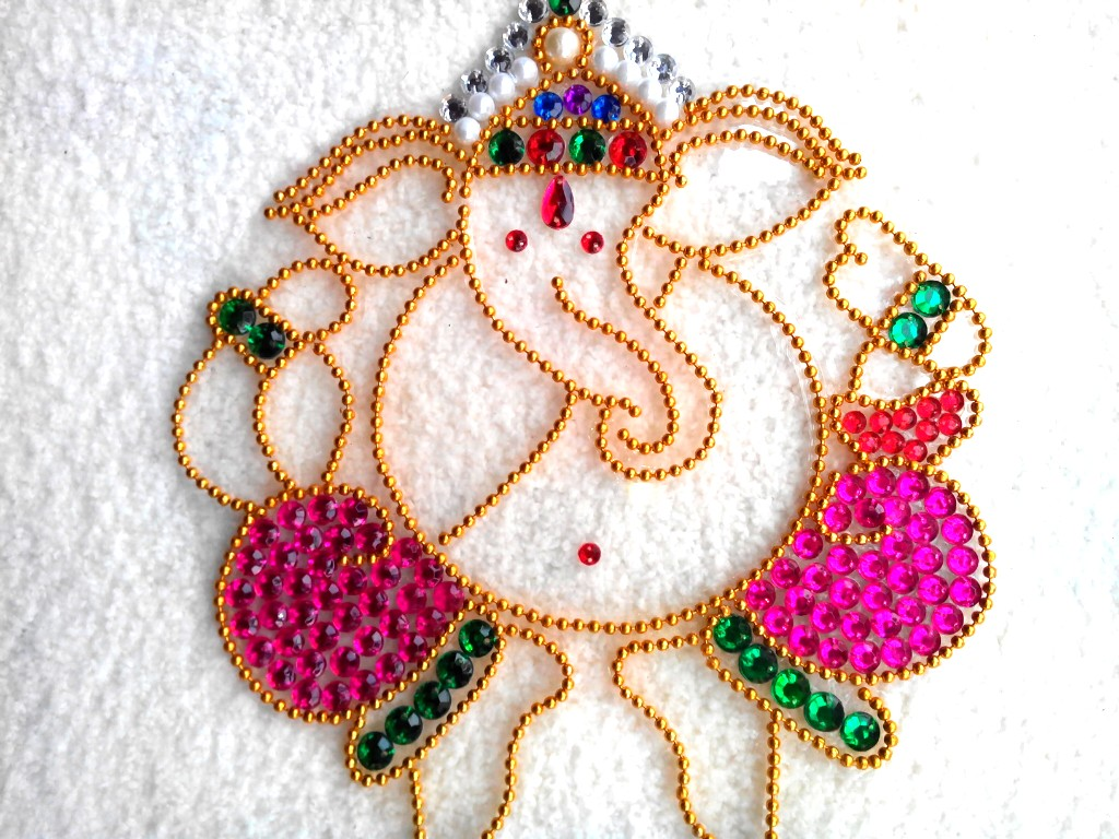 ganpati bappa rangoli designs