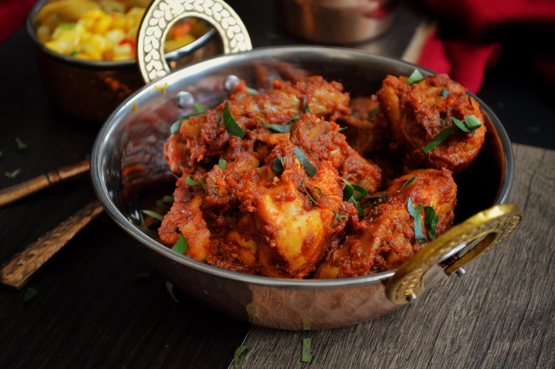Spicy Tangy Kadhai Chicken